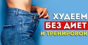 Топ 5 способов похудеть без голодовки и тренировок (Проверено работает)